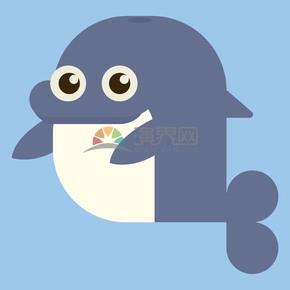 海豚矢量卡通