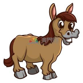 卡通可爱动物小马素材