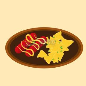 趣味活泼形象生动可爱美味食物卡通图