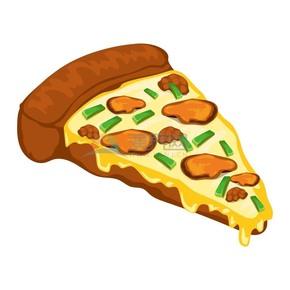 趣味活泼形象生动美味披萨卡通图