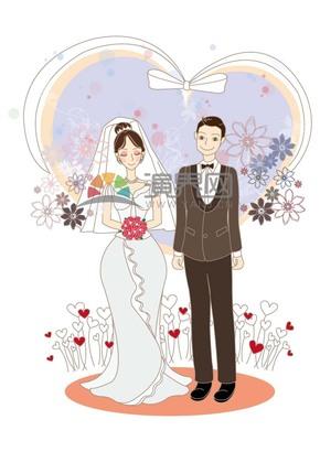 幸福的情侣婚纱照
