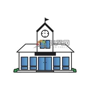 白色簡約卡通建筑設計