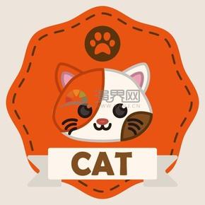 猫头卡通元素