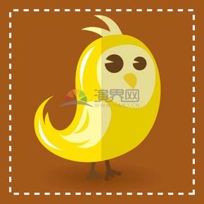 小黄鸟卡通元素