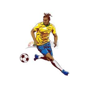 足球运动员创意卡通有趣人物设计