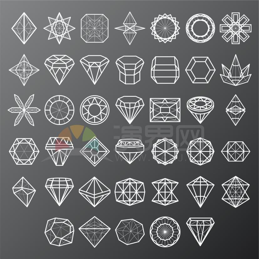 简约线条几何图形花纹装饰卡通图案