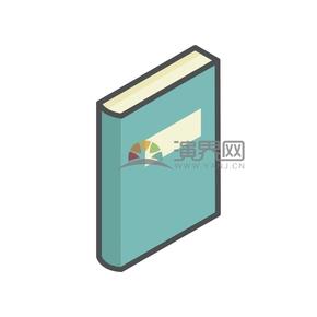 简洁创意黑色线条绿色封面书籍本子卡通图