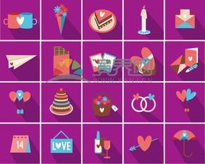 紫色情人节爱情素材合集