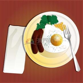 色香味俱全西餐卡通有趣创意设计
