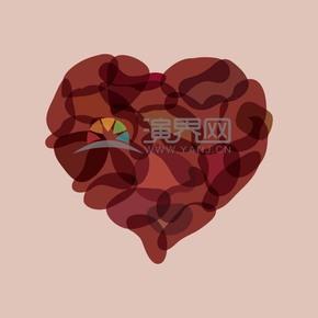 愛情情人節表白愛心玫瑰花瓣
