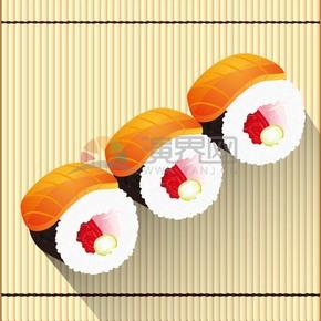 卡通寿司日本料理食物素材