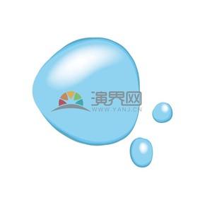 蓝色水滴水洼矢量素材