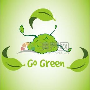 走进绿色矢量素材