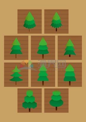 树木系统矢量素材