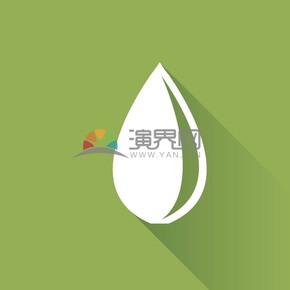 绿色清新背景白色水滴