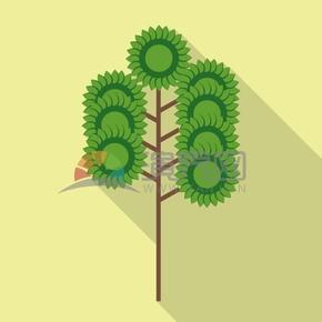 太阳树矢量素材