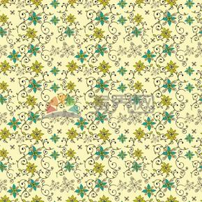 抽象樹葉花紋背景