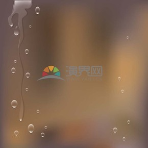 水滴雨水精美背景素材