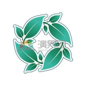 蓝绿色花环