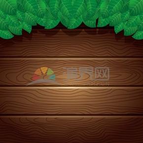 卡通绿色树叶背景