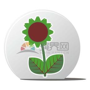绿色太阳花