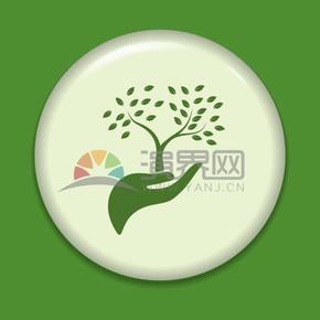 创意绿叶图标