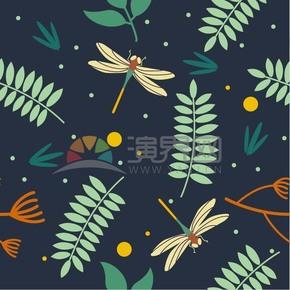 繽紛多彩樹葉背景