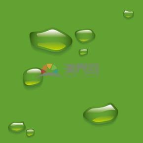 綠色背景漸變透明水滴背景素材