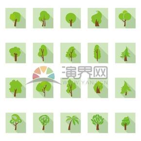 树木系列矢量素材
