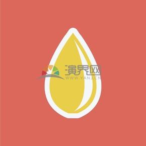 红色背景黄色水滴