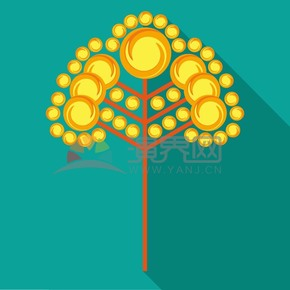 圆形树木矢量素材