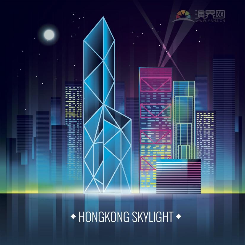 颜色透明曝光扩散模糊线条线条建筑组合