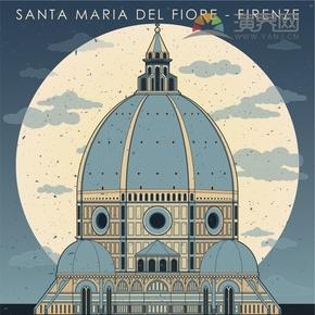 意大利佛罗伦萨建筑背景设计