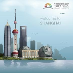 东方明珠塔建筑背景设计