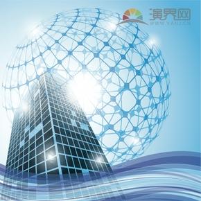 建筑高楼背景素材创意设计
