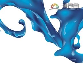 蓝色水墨挥洒背景设计