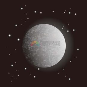 中秋圆月背景素材