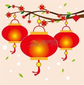 红色灯笼春节素材