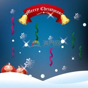 圣诞节字体标签矢量图