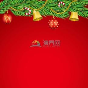 圣诞节铃铛红色背景素材