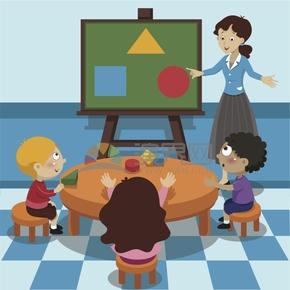 趣味活潑簡約清新老師學生學習課堂歌頌贊美老師慶祝教師節卡通圖