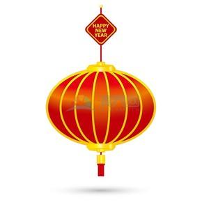 春节红色灯笼矢量素材