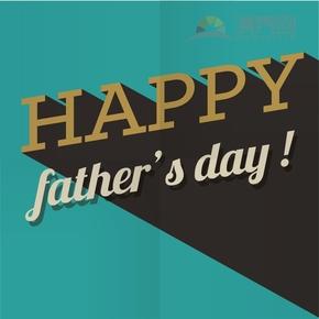简单清新歌颂赞扬父亲父亲节卡通图文字宣传海报