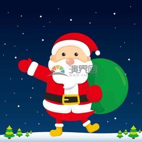 圣誕老人卡通矢量插畫