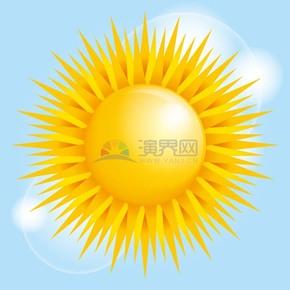 卡通夏季矢量太阳素材