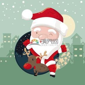 圣诞老人矢量素材