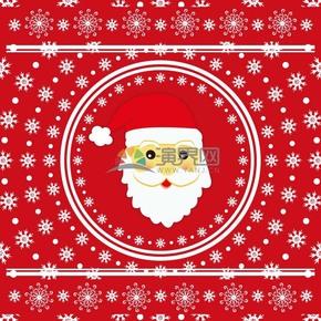 创意圣诞节圣诞老人卡片装饰素材