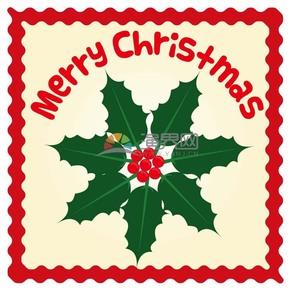 创意圣诞节圣诞果卡片装饰素材