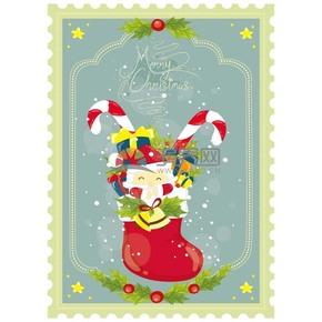 圣誕祝福賀卡矢量素材
