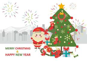 圣誕節圣誕老人卡通矢量素材